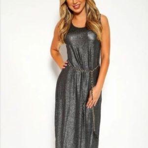 Dresses & Skirts - Black Shimmer Maxi Dress